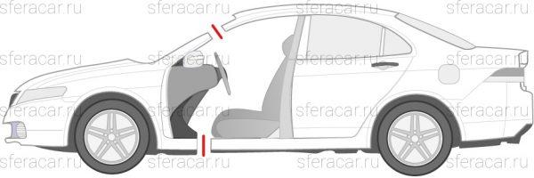 Схема распила легкового автомобиля по переду