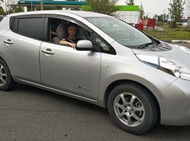 Купленный Nissan Leaf AZE0 2015 24kWh S